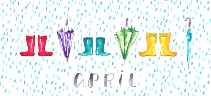 April Showers Illustrated Wallpaper Swiss Cottage Designs Desktop1